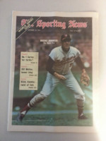 1971 Sporting News October 16 Brooks Robinson Excellent to Mint lt. center fold from mailbox