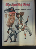 1972 Sporting News March 4 Cuellar, Dobson, McNally, Palmer (Heavy fold from Original Mailer - o/w Sharp!) Excellent
