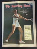 1972 Sporting News March 11 Chris Evert (Heavy fold from Original Mailer - o/w Sharp!) Excellent