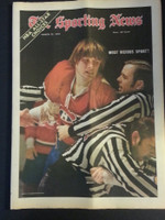 1972 Sporting News March 25 Marc Tardif (Heavy fold from Original Mailer - o/w Sharp!) Excellent