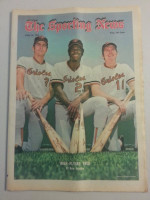 1972 Sporting News June 24 Baylor, Crowley, Grich Excellent to Mint lt. center fold from mailbox