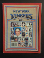 1984 Yankees Yearbook Excellent to Mint
