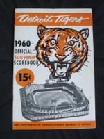 1960 Tigers Program vs Orioles (20 pg) Unscored Very Good [Cover wear and creasing; Lineups written in pen]