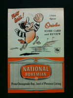 1960 Orioles Game Program vs Senators Unscored AUTOGRAPHED by Gus Triandos Excellent