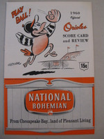 1960 Orioles Program vs Senators (20 pg) Unscored Near-Mint [Very lt wear on cover, feels uncirculated]