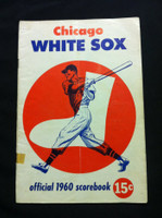 1960 White Sox Game Program vs Senators (28 pg) Unscored Series Played Aug 4-7 Good to Very Good [Vert compact fold, tape on cover; contents fine]