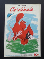 1960 Cardinals Scorecard April 23 vs Dodgers Scored - McDevitt vs Kline (Stl 9-5, Boyer HR) Excellent