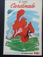 1960 Cardinals Scorecard July 4 GM 2 vs Dodgers Scored - Sadecki vs Craig (LA 5-4, Gil Hodges HR) Excellent