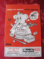 1960 Athletics Game Program (14 pg) vs Red Sox Unscored Excellent [[Foldline down center]]