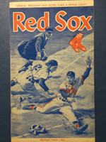 1961 Red Sox Program vs White Sox (24 pg) Unscored Excellent [Very clean]