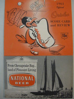 1961 Orioles Program vs White Sox (28 pg) Unscored Very Good to Excellent [Lt wear with faint compact fold lines includes Oriole stat sheet]