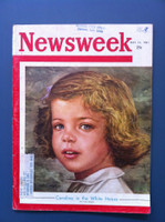 1961 Newsweek May 15 Caroline Kennedy: Caroline in the White House Good to Very Good Scuffing and small pen mark on cover