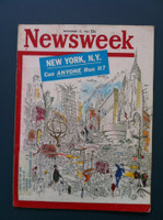 1961 Newsweek November 13 New York City: Can Anyone Run It? Very Good