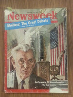 1962 Newsweek January 15 McCormick (Mass) and the New Congress Fair to Poor cover nearly all split, many tears