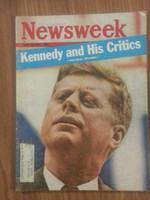 1962 Newsweek July 16 President John F. Kennedy Very Good crease and scuffing on cover, contents fine