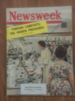 1962 Newsweek July 30 Mighty US Consumer Very Good creasing on cover