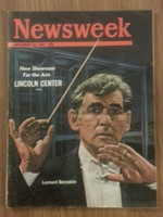 1962 Newsweek September 24 Lincoln Center Opens (Leonard Bernstein) Fair to Good binding partially split