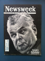 1963 Newsweek February 18 Canada's Diefenbaker Very Good