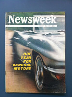 1963 Newsweek February 25 Hot Year for General Motors Very Good to Excellent Label has been removed, contents great