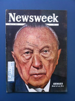1963 Newsweek May 6 Adenauer: End of an Era Excellent The word DUPE is written in small pen on the cover, ow great