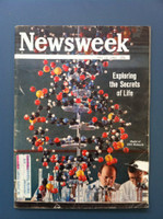 1963 Newsweek May 13 DNA: Exploring the Secrets of Life Fair to Poor The cover and first few pages have some wear resulting in paper loss