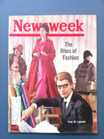 1963 Newsweek August 12 Yves St. Laurent Very Good to Excellent