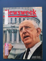 1963 Newsweek August 19 Civil Rights: The South's Stand Fair to Poor The cover and first few pages have some wear resulting in paper loss