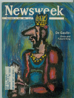 1965 Newsweek December 13 Charles De Gaulle Excellent to Mint