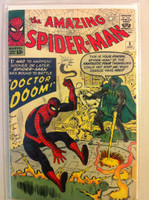 Spiderman #5 Doctor Doom Oct 63 Good Cover wear and creasing; contents fine