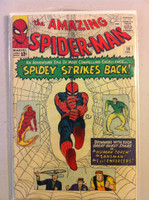 Spiderman #19 Human Torch and Sandman Dec 64 Good Cover wear and creasing; contents ok