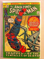 Spiderman #107 Tentacles of Death Apr 72 Very Good Sl wear on cover; contents fine