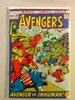 The Avengers #95 Avenger vs Inhuman Jan 72 Good to Very Good Wear on cover; sm tears at staples; contents fine