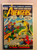 The Avengers #101 Five Dooms Jul 72 Very Good Lt wear on cover; contents fine