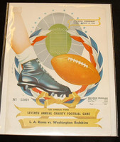 1951 NFL Program Rams vs Redskins Aug 15 1951 Excellent to Mint