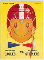 1952 NFL Program Eagles vs Steelers Oct 12 1952 Excellent