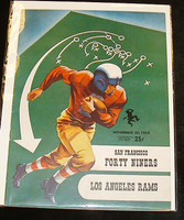 1952 NFL Program 49ers vs Rams Nov 30 1952 Near-Mint