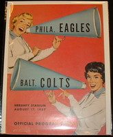 1957 NFL Program Eagles vs Colts Aug 17 1957 Near-Mint