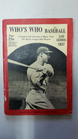 1937 Who's Who in Baseball Lou Gehrig Very Good [Wear on cover, creases; great image of Gehrig; contents very clean]