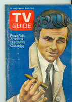 1972 TV Guide Mar 18 Peter Falk as Columbo (First Cover) Eastern Washington edition Very Good - No Mailing Label  [Lt scuffing on cover; contents fine]