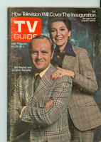 1973 TV Guide Jan 20 Bob Newhart and Suzanne Pleshette of Newhart (First Cover) Detroit edition Good to Very Good  [Wear on cover, scuffing and creasing; label removed]
