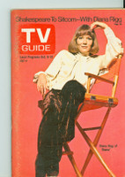 1973 TV Guide Oct 6 Diana Rigg Eastern Washington edition Excellent - No Mailing Label  [lt wear and toning on cover, ow clean]