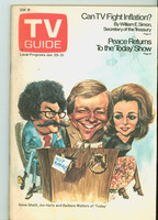 1975 TV Guide Jan 25 Today Show Western Washington edition Excellent - No Mailing Label  [Lt toning along binding, ow very clean]