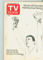 1975 TV Guide May 10 Muhammad Ali Western New England edition Very Good to Excellent - No Mailing Label  [Lt wear, spotting on cover; contents fine]