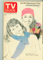 1975 TV Guide Nov 8 Rhoda Eastern Illinois edition Very Good to Excellent - No Mailing Label  [Lt toning along binding, ow clean]