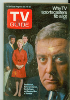 1970 TV Guide Jan 17 Ironside North Carolina edition Very Good - No Mailing Label  [Wear, scuffing and sl discoloration on cover; contents fine]
