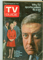 1970 TV Guide Jan 17 Ironside Chicago edition Very Good - No Mailing Label  [Heavy cover wear, scuffing and creasing; contents fine]