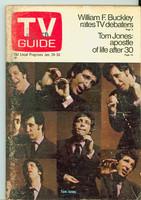 1970 TV Guide Jan 24 Tom Jones Missouri edition Very Good - No Mailing Label  [Heavy scuffing, toning on cover; contents fine]