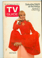 1970 TV Guide Jan 31 Debbie Reynolds Eastern Washington edition Excellent - No Mailing Label  [Lt wear on front cover, sl moisture on reverse, contents fine]