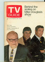 1970 TV Guide Apr 18 Bold Ones Eastern Washington edition Very Good to Excellent - No Mailing Label  [Wear and creasing on both covers; contents fine]