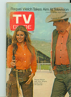 1970 TV Guide Apr 25 Raquel Welch and John Wayne Eastern Washington edition Very Good to Excellent - No Mailing Label  [Wear and creasing on both covers; contents fine]